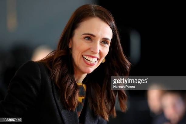 New Zealand Prime Minister Jacinda Ardern speaks to students at Northcote College on July 03, 2020 in Auckland, New Zealand. Prime Minister Jacinda...