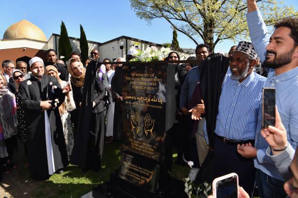 NZL: Jacinda Ardern Attends Plaque Unveiling At Al Noor Mosque
