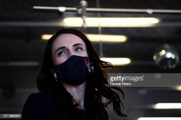 New Zealand Prime Minister Jacinda Ardern visits inMusic on September 11, 2020 in Auckland, New Zealand. The 2020 New Zealand General Election will...
