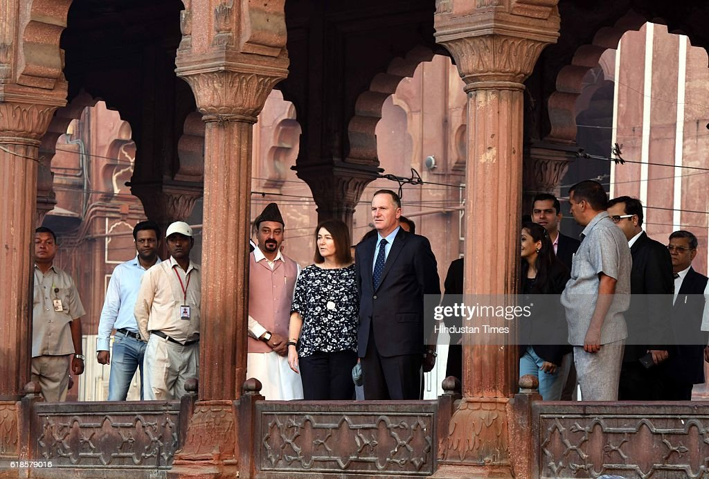 New Zealand Prime Minister John Key And His Wife Bronagh Key Visit Historic Jama Masjid : News Photo