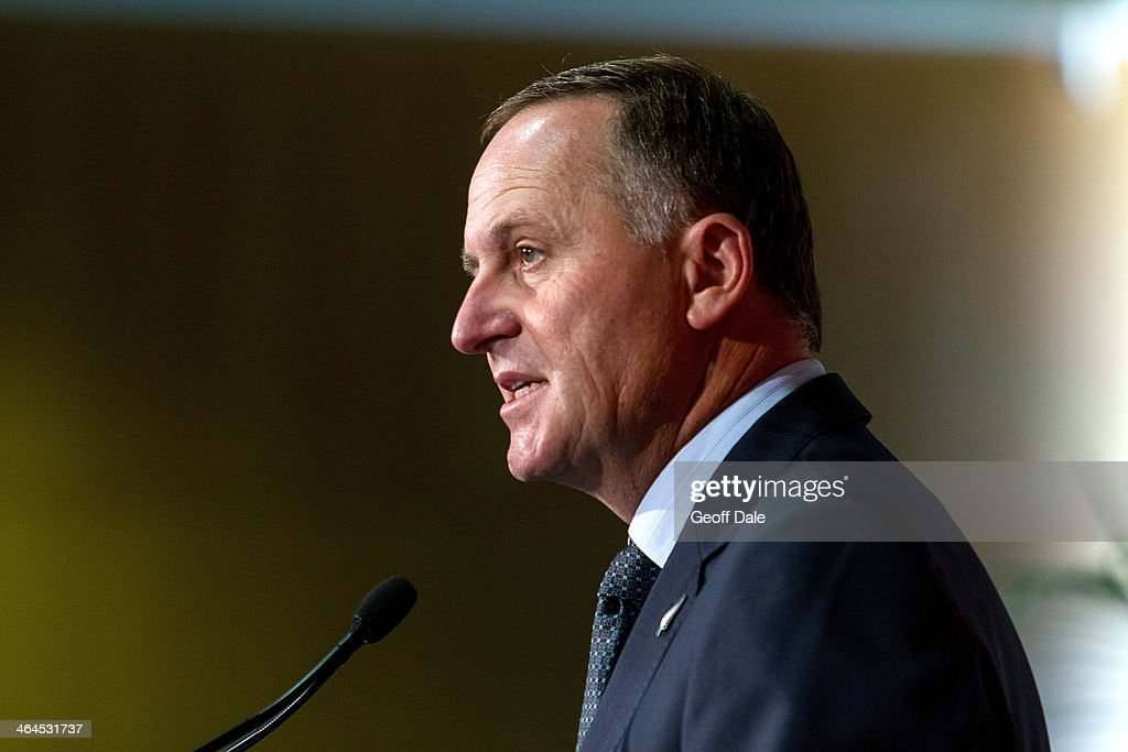 John Key Delivers State Of The Nation Speech : News Photo