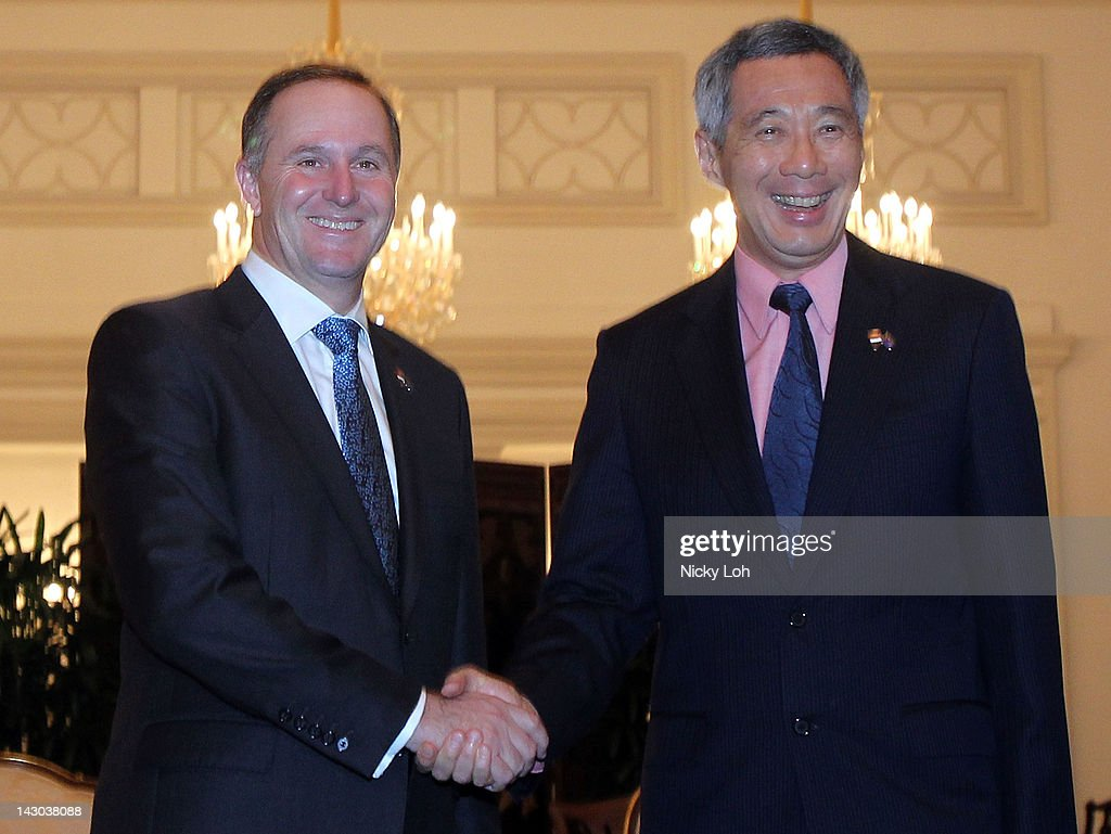 New Zealand Prime Minister John Key Visits Singapore