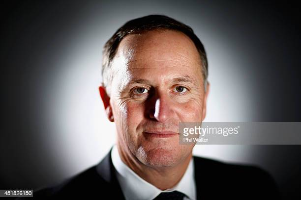 New Zealand Prime Minister John Key poses during a portrait session at Minnie St Studios on July 8 2014 in Auckland New Zealand John Key is the 38th...