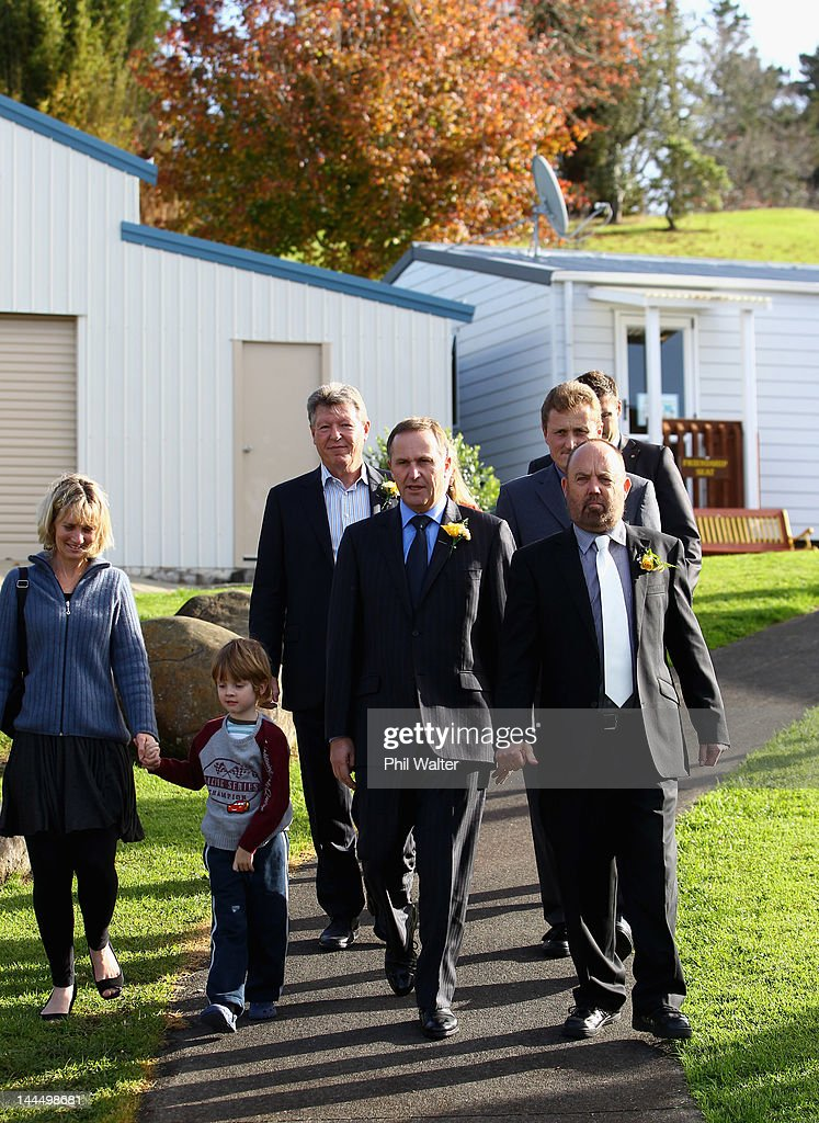 New Zealand Prime Minister John Key (C) tours the school before opening a new classroom block at the Westminister Christian School on May 15, 2012 in Auckland, New Zealand. The Prime Minister is conducting events in Auckland today before heading to Gisborne for appearances tomorrow.