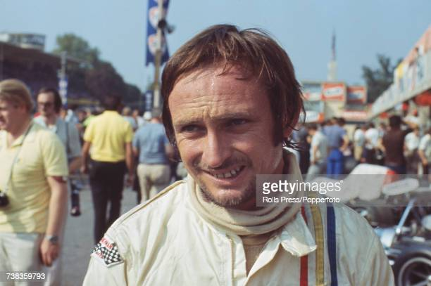 New Zealand racing driver Chris Amon pictured in the pits prior to competing in the 1971 Italian Grand Prix at Monza in Italy on 5th September 1971...