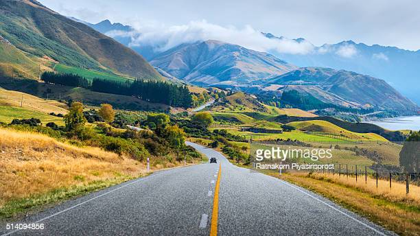 New Zealand Road and Landscape Scene