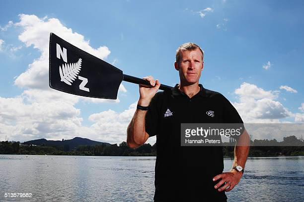 New Zealand rower Mahe Drysdale poses for a portrait during the New Zealand Olympic Rowing Team Announcement at Lake Karapiro on March 4 2016 in...