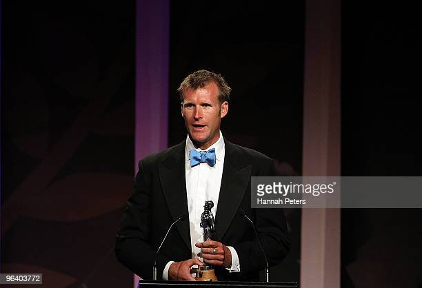 New Zealand rower Mahe Drysdale wins the Sportsman of the Year Award during the 2009 Halberg Awards at Sky City on February 4 2010 in Auckland New...