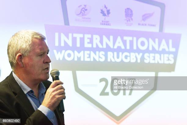 New Zealand Rugby CEO Steve Chew during the International Women's Rugby Series Fork and Talk launch event at New Zealand Rugby House on June 6 2017...