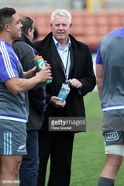 New Zealand Rugby CEO Steve Tew during the New Zealand All Blacks Captain's Run at Waikato Stadium on September 9 2016 in Hamilton New Zealand