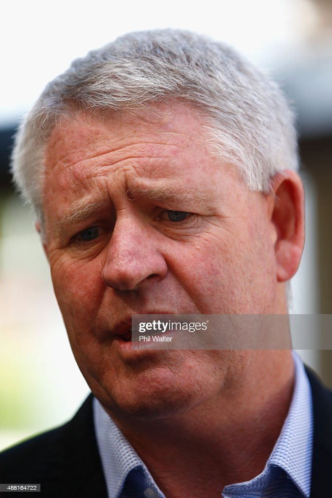 New Zealand Rugby CEO Steve Tew speaks during a Blues Super Rugby press conference at Unitec on March 31, 2015 in Auckland, New Zealand. Jerome Kaino today announced that he has committed himself for the next three years to New Zealand Rugby, the Blues and Auckland Rugby.