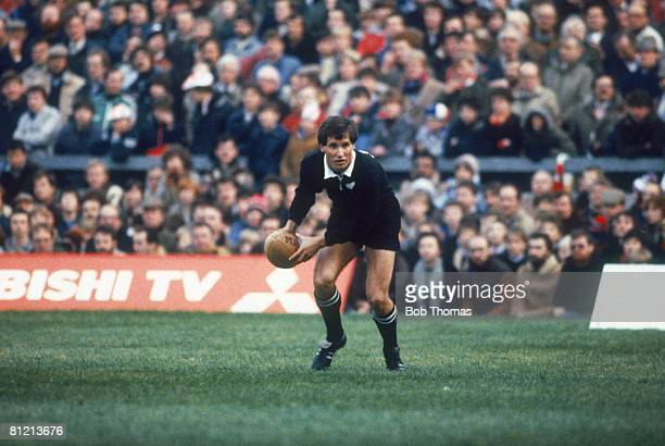 New Zealand rugby fullback Robbie Deans of the All Blacks in action against England at Twickenham 19th November 1983 England won the match 159