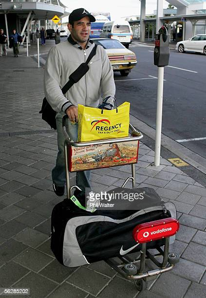 New Zealand Rugby League star Stacey Jones arrives home at the Auckland International Airport November 29 2005 in Auckland New Zealand Stacey Jones...
