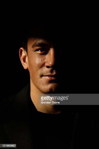 New Zealand rugby player Sonny Bill Williams poses after announcing his signing with the New Zealand Rugby Union on June 11, 2010 in Sydney,...
