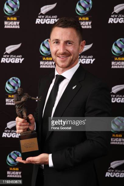 New Zealand Rugby Referee of the Year Paul Williams poses for a photograph during the New Zealand Rugby Awards at the Sky City Convention Centre on...