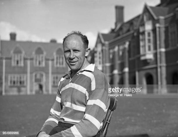 New Zealand rugby union player Robert William Henry 'Bob' Scott , full back of the All Blacks, during a tour of the British Isles, 30th October 1953.