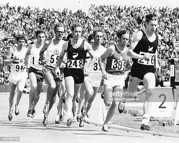 New Zealand runner Dick Quax leads the field during the 1500m final at the Commonwealth Games Edinburgh Scotland July 22nd 1970