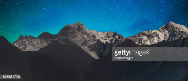 New Zealand scenic mountain landscape at Mount Cook  milky way