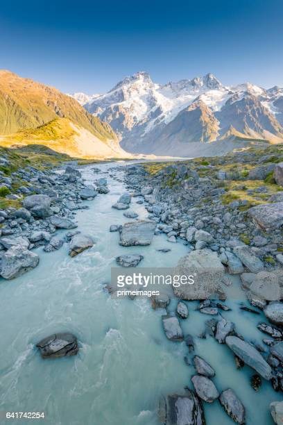 New Zealand scenic mountain landscape shot at Mount Cook
