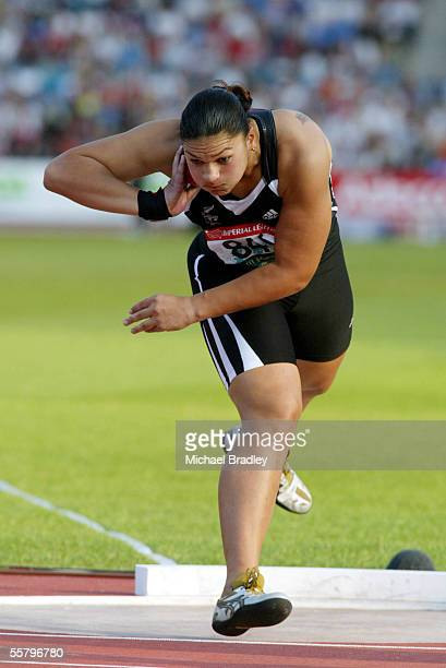 New Zealand Shot Put Valerie Adams in action during the shot put final. Adams won a silver medal with a best throw of 17.45, the winner was Vivian...