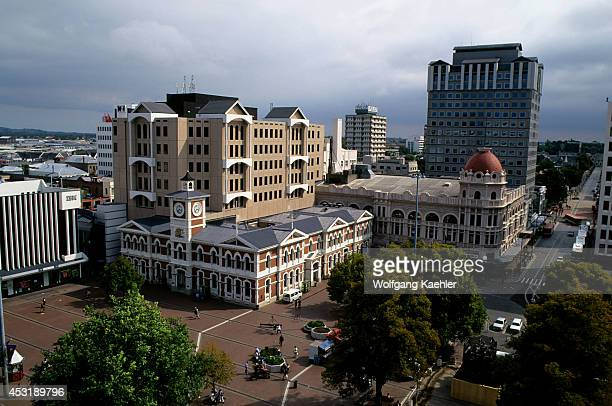 New Zealand South Island Christchurch Downtown View From Cathedral Of Post Office