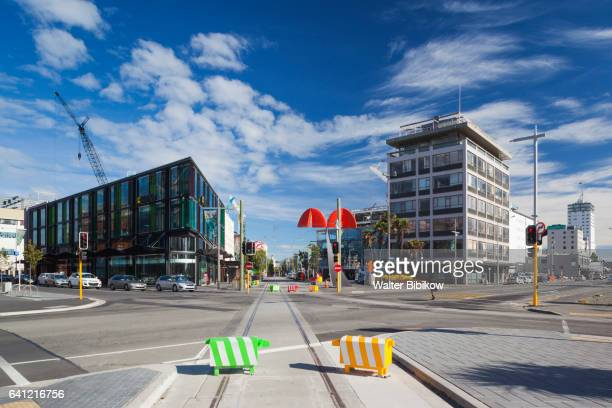 new zealand, south island, exterior - christchurch stock pictures, royalty-free photos & images