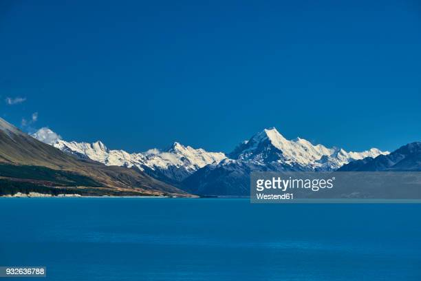 New Zealand, South Island, Lake Pukaki, Mount Cook
