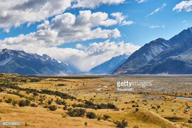 New Zealand, South Island, Mount Cook National Park, Tasman River Valley