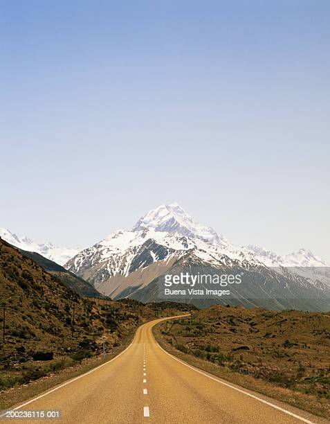 New Zealand, South Island, road to Mount Cook