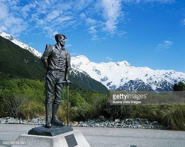 New Zealand, South Island, Sir Edmund Hillary monument
