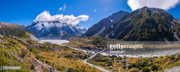 New Zealand, South Island, view to Hooker Valley at Mount Cook National Park