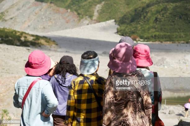 New Zealand, South Island, Westland National Park, Asian tourists