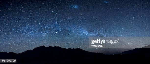 New Zealand, starry sky, milkyway at night