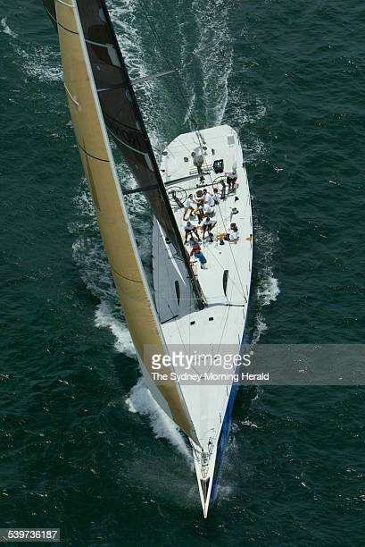 New Zealand super maxi Konica Minolta on Sydney Harbour in preparation for the 2005 Rolex Sydney to Hobart Yacht Race 22 December 2005 SMH NEWS...