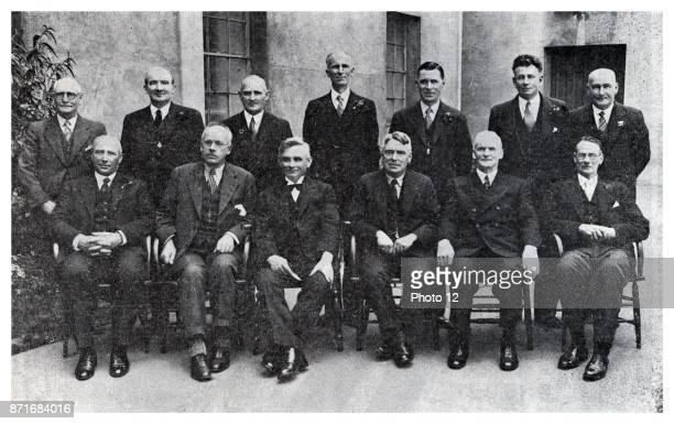 the first Labour Government 1935 Back Row W Lee Martin P C Webb F Langstone H G R Mason F Jones D G Sullivan H T Armstrong Front Row W E Parry P...
