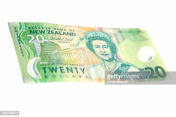 New Zealand Twenty Dollar Bill - Front