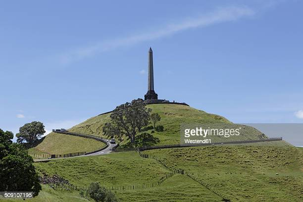 New Zealand, view to Mount Eden with obelisk