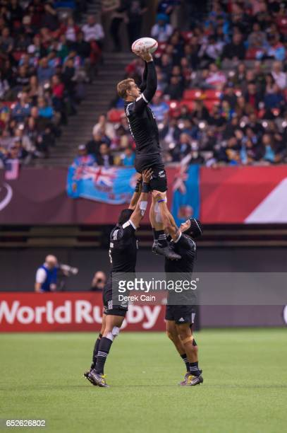 New Zealand vs Argentina during day 2 of the 2017 Canada Sevens Rugby Tournament on March 12 2017 in Vancouver British Columbia Canada