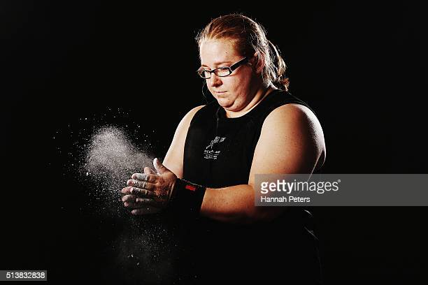 New Zealand weightlifter Tracey Lambrechs poses during the New Zealand Olympic teams Rio 2016 Olympic Games portrait session on February 29 2016 in...