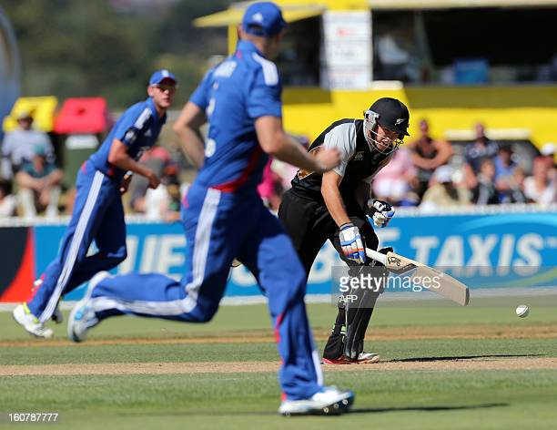 New Zealand XI's Tom Latham looks to make a run during the warm up Twenty20 cricket match between the New Zealand XI and England played at Cobham...