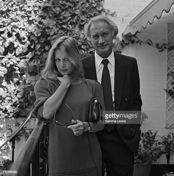New Zealandborn actress and business woman Anoushka Hempel with her husband financier Sir Mark Weinberg circa 1985