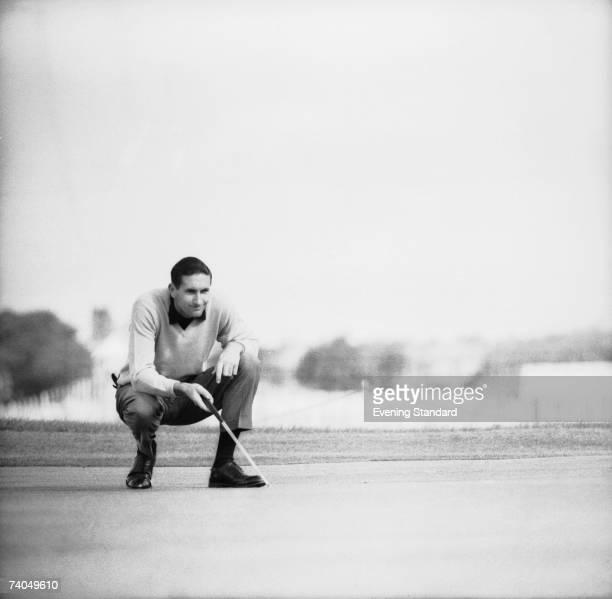 New Zealandborn golfing champion Bob Charles wins the British Open Golf Championship at Royal Lytham St Annes Golf Club July 1963