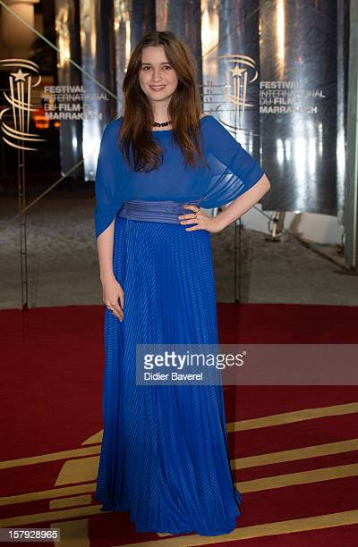 New Zealander actress Alice Englert Jane Campion's daughter poses as she arrives at the 12th International Marrakech Film Festival on December 7 2012...