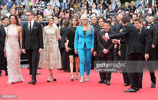 New Zealander director and President of the Feature films Jury Jane Campion arrives with the members of the Jury French actress Carole Bouquet Danish...