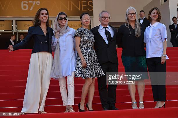 New Zealander director and President of the Feature films Jury Jane Campion and the members of the Jury French actress Carole Bouquet Iranian actress...