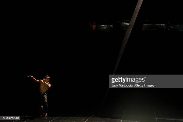 New Zealander Ioane Papalii, of the dance-theater company Mau, performs in 'Birds With Skymirrors' at the BAM Howard Gilman Opera House, Brooklyn,...