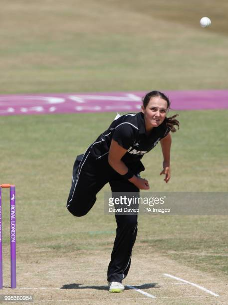 New Zealand's Amelia Kerr during the Second One Day International Women's match at the 3aaa County Ground Derby