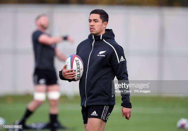 New Zealand's Anton LienertBrown during the captain's run at The Lensbury Hotel London