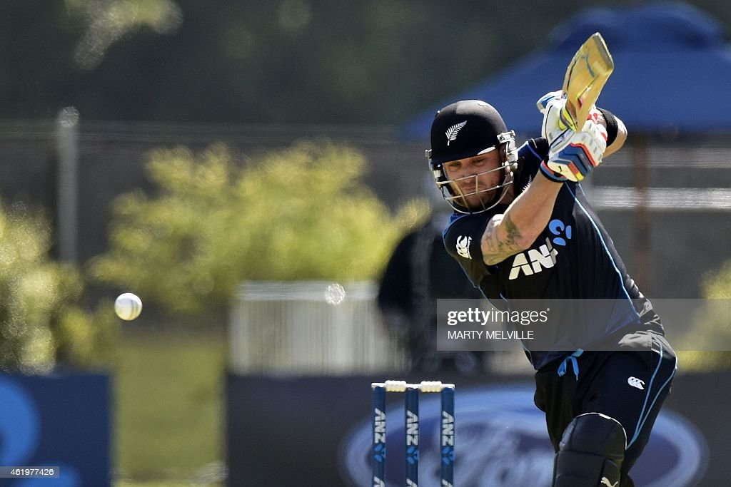 CRICKET-NZL-SRI : News Photo