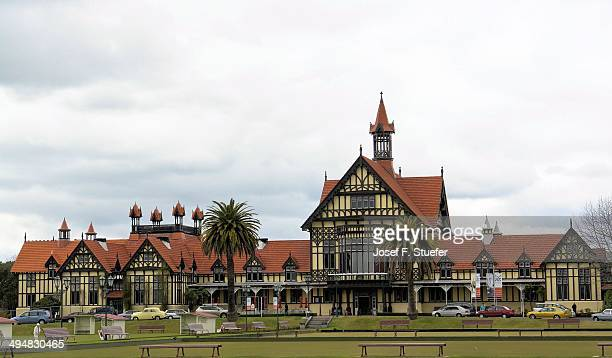 new zealand's cities & landmarks - rotorua stock pictures, royalty-free photos & images